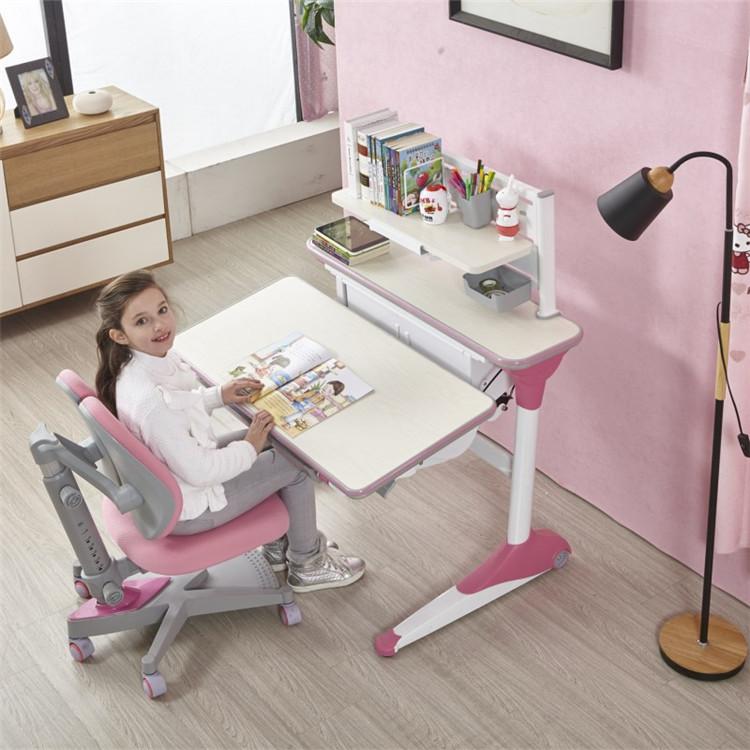 Height adjustable children desk